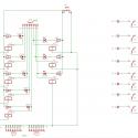 Schemat ideowy modułu przekaźników