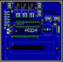 Widok wzoru płytki PCB termostatu